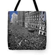Vj Day Times Square New York City 1945 Color Added 2013 Tote Bag