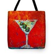 Vodka Martini Shaken Not Stirred - Martini Lovers - Modern Art Tote Bag