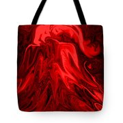 Red Volcanic Dreams Tote Bag