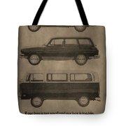 Volkswagen Advertisement Tote Bag