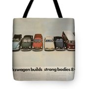 Volkswagen Body Facts Tote Bag by Georgia Fowler