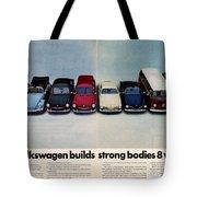 Volkswagen Builds Strong Bodies Eight Ways Tote Bag