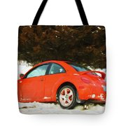 Volkswagen Snow Day Tote Bag
