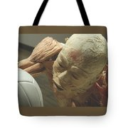Extreme Sports Volleyball Player From Bodies Exhibit Tote Bag