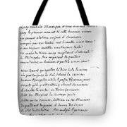 Voltaire Letter, 1740 Tote Bag