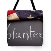 Volunteer Sign On Chalkboard Tote Bag