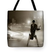 Volvo P1800 And Hot Detective Tote Bag