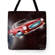 Volvo P1800 Goes Back To The Future Tote Bag