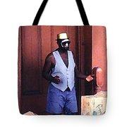 Voodoo Busker In New Orleans Tote Bag