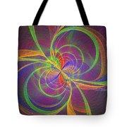 Vortex Abstract Digital Fractal Flame Art Tote Bag