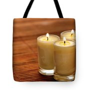 Votive Candle Burning Tote Bag