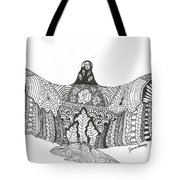 Vulture Wild Ink Tote Bag
