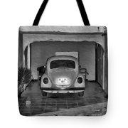 Vw Beetle Digital Painting Tote Bag