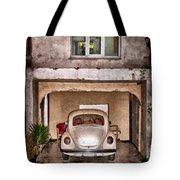 Vw Beetle Painting Tote Bag