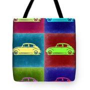 Vw Beetle Pop Art 2 Tote Bag by Naxart Studio