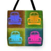 Vw Beetle Pop Art 6 Tote Bag by Naxart Studio