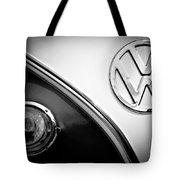 Vw Emblem Black And White Tote Bag