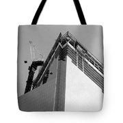 W T C 4 In Black And White Tote Bag