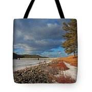 Wachusett Reservoir Frozen Tote Bag