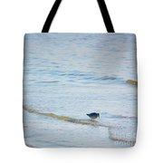 Waders Walking The Beach. Tote Bag