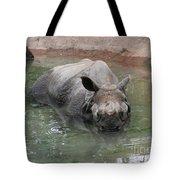 Wading Rhinos Tote Bag