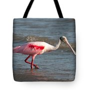 Wading Spoonbill Tote Bag