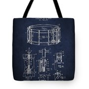 Waechtler Snare Drum Patent Drawing From 1910 - Navy Blue Tote Bag