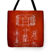 Waechtler Snare Drum Patent Drawing From 1910 - Red Tote Bag