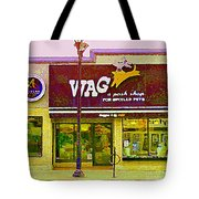 Wag A Posh Pet Store Cafe For Spoiled Pets The Glebe Paintings Of Old Ottawa South Carole Spandau  Tote Bag