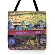 Wagon Full Of Frogs Tote Bag