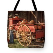 Wagon Full Of Pumpkins Tote Bag
