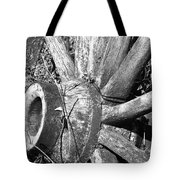 Wagon Wheel - No Where To Go - Bw 03 Tote Bag