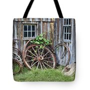 Wagon Wheels In Color Tote Bag by Crystal Nederman