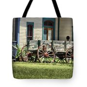 Wagon Wheels In Dodge City Tote Bag