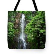 Waikani Falls At Wailua Maui Hawaii Tote Bag