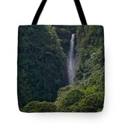 Wailua Stream Waiokane Falls View From Wailua Maui Hawaii Tote Bag