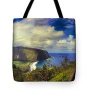 Waipo Valley Lookout-big Island Hawaii Tote Bag