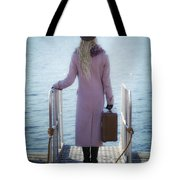 Waiting For A Ship Tote Bag