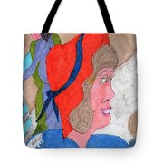 Waiting For A Taxi Tote Bag by Elinor Rakowski