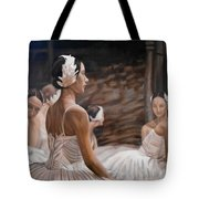 Waiting For Curtain Tote Bag