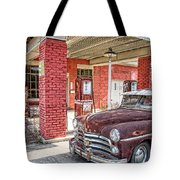 Waiting For Gas Tote Bag