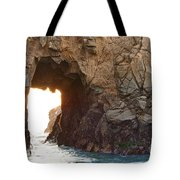 Waiting For Godot - Arch Rock In Pfeiffer Beach In Big Sur. Tote Bag