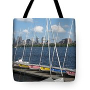 Waiting For Sailors On The Charles Tote Bag