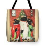 Waiting For Santa Claus Tote Bag