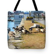 Waiting For The Ferry Tote Bag