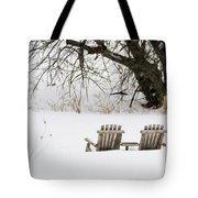 Waiting For The Right Season As An Oil Painting Tote Bag