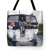 Waiting For The Water Taxi Tote Bag