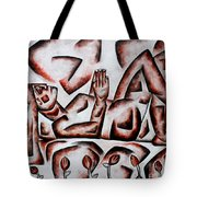 Waiting For Tulips  Tote Bag