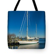 Waiting For Warmer Weather At The Dock Tote Bag