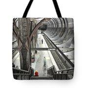 Waiting - Hollywood Subway Station. Tote Bag
